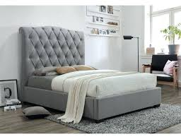 Tufted Headboard Bed Queen Leather Bedroom Set White Grey Linen ...