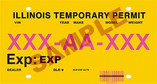 temporary registration permits trp s
