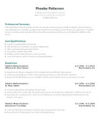 Example Of Resumes For Medical Assistants Sample Resumes For Medical Assistants Medical Assistant Resume