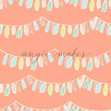 Garland Background Pattern Seamless Party Background Pattern Cute Party Garland Background