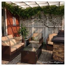 pergola design : Awesome Decor July Our White Pergola Provides Ton Of  Privacy And The Lattice With Grape Vines Adds Nice Touch It Feels As If You  Are Away ...