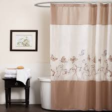 Bathroom 84 Inch Shower Curtain Awesome Creamy And Brown Design With Long Shower  Curtain Floral Patterned