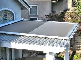 full size of retractable shade panel on lattice patio cover by superior awning southern california patio