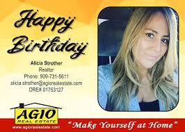 Happy Birthday! Alicia Strother... - Agio Real Estate, Inc.   Facebook