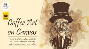 Art For Non Artists Coffee Art On Canvas With Artist Ritu Dua