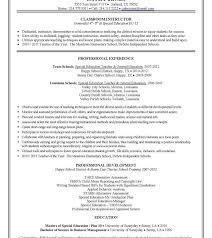 Resume Templatesple Education Special Teacherple1 School ...