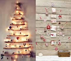 Wall Christmas Tree Ideas Lights Decorating String On The