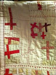 6221 best Quilts + Stitched Creations images on Pinterest ... & Close up of Red Cross Quilt. Use my vintage cream feed sacks for background? Adamdwight.com