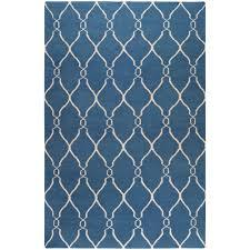 surya jill rosenwald blue 9 ft x 13 ft flatweave area rug fal1011 913 the home depot