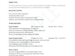 Resume Objective For Paralegal resume objective for paralegal foodcityme 68