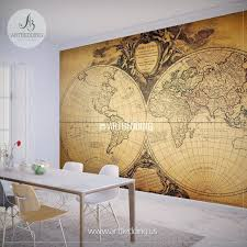 map of decor world map wallpaper mural uk fresh old style world map wall mural