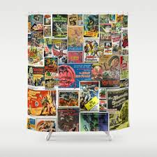 collage s tv and vintage shower curtains society6 in measurements 1080 x 1080