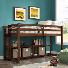 com better homes and gardens loft storage bed with spacious storage shelves multiple finishes espresso kitchen dining