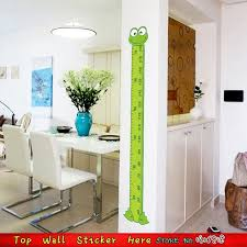 Us 6 35 Removable Cartoon Green Frog Children Height Measure Growth Chart Wall Stickers Home Mural Art Decals Kids Bedroom Wall Stickers In Wall