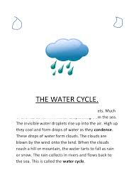 the water cycle notes  the water cycle the air contains a lot of invisible water droplets