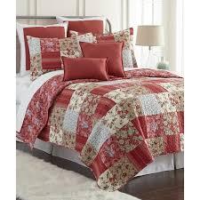 Sherry Kline Manhattan Red 3-piece Cotton Reversible Quilt Set ... & Sherry Kline Manhattan Red 3-piece Cotton Reversible Quilt Set Adamdwight.com