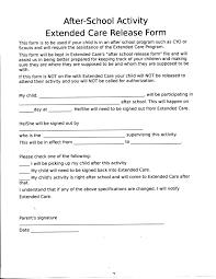 Handbook Forms After School Activity Release Form