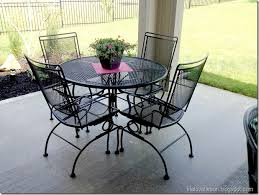black iron outdoor furniture. delighful iron spray painted furniture 5 piece wrought iron patio set with black outdoor