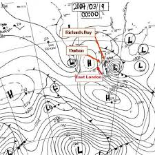 Weather Sa Synoptic Chart Synoptic Chart For 19 March 2007 Indicating Cut Off Low