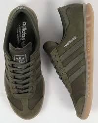 adidas khaki trainers. free shipping adidas originals - hamburg trainers in base green ( khaki), gum khaki i