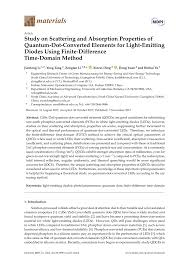 What Is The Study Of Light And Its Properties Pdf Study On Scattering And Absorption Properties Of