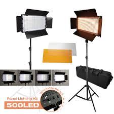 Photo Studio Lighting Kit Ebay Details About Photography Studio 2 Pack 500 Led Barndoor Panel Lighting Kit With Tripod Stands