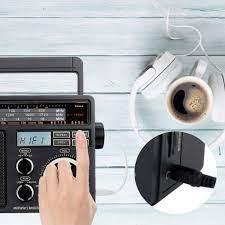 Đài Phát Thanh Radio Fm Retekess Tr618 Am Sw Với Máy Nghe Nhạc Mp3 Kỹ Thuật  Số Loa Lớn Và Tay Cầm Cho Xe Tại Nhà