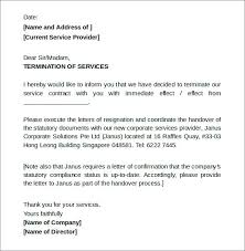 sample letter to terminate contract cancellation of services letter from business inspirational pany 10