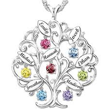 family tree birthstone necklace looking for a creative birthday or gift for mom