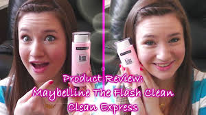 review maybelline the flash clean clean express