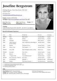 Actors Resume Beauteous Actor Resume Example Best Resume Collection