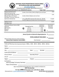 Application For Membership Membership Application Hard Copy Form National Black