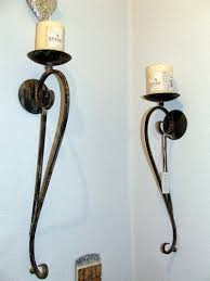 wall candle holder wrought iron wall