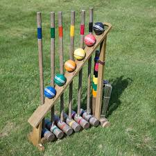 vintage croquet set mallets wickets and franklin sports franklin sports