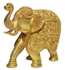 Nice Nexplora Industries Large Gold Elegant Elephant Brass Statue Showpiece  Sculpture Lucky Figurine House Warming Gift U0026 Home Decor Congratulatory  Blessing Gift ...