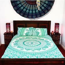 details about indian home decor mandala duvet quilt cover boho bohemian bedding set comforter