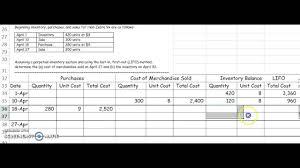 Lifo Inventory Chart