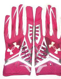 under armour breast cancer. davon house green bay packers game worn \u0026 signed breast cancer awareness pink \u201ca crucial catch\u201d under armour gloves (worn vs miami dolphins in thrilling
