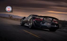 porsche 918 spyder black wallpaper. click to enlarge image hre_0006_porsche 918 spyder with hre p101 in brushed dark clear photo porsche black wallpaper