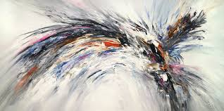 black and white nature wings l 4 2018 painting 100x200x4 cm