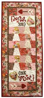 7 best Block of the Month Quilt Programs images on Pinterest ... & Be Mine Valentine Table Runner Adamdwight.com