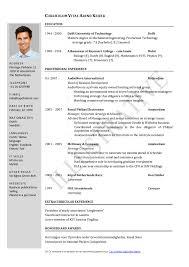 Curriculum Vitae Sample Work Experience Help Writing Grad School