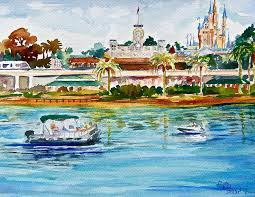 orlando painting a disney sort of day by laura bird miller