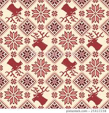 Nordic Pattern Magnificent Nordic Pattern Pattern Stitch Vector Stock Illustration