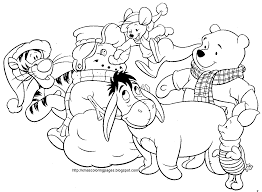 Christmas Coloring Pages Disney Printable