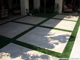 artificial grass patio stone project 1