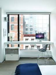 desk in master bedroom. Brilliant Bedroom Master Bedroom Floating Desk In SoHo Loft  Home Office Intended Desk In Bedroom M