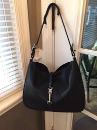 Vintage Coach Black Leather Hamptons Hobo Clip Tote Purse Satchel Bag 7778    eBay Tote Purse