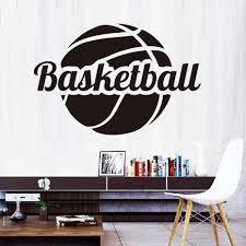 nba slam dunk basketball sport wall art sticker vinyl decal room design ideas of basketball wall