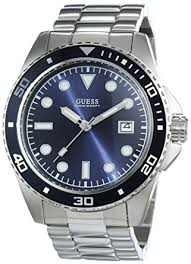 guess men s quartz watch black dial analogue display and guess men s quartz watch black dial analogue display and silver stainless steel w0610g1